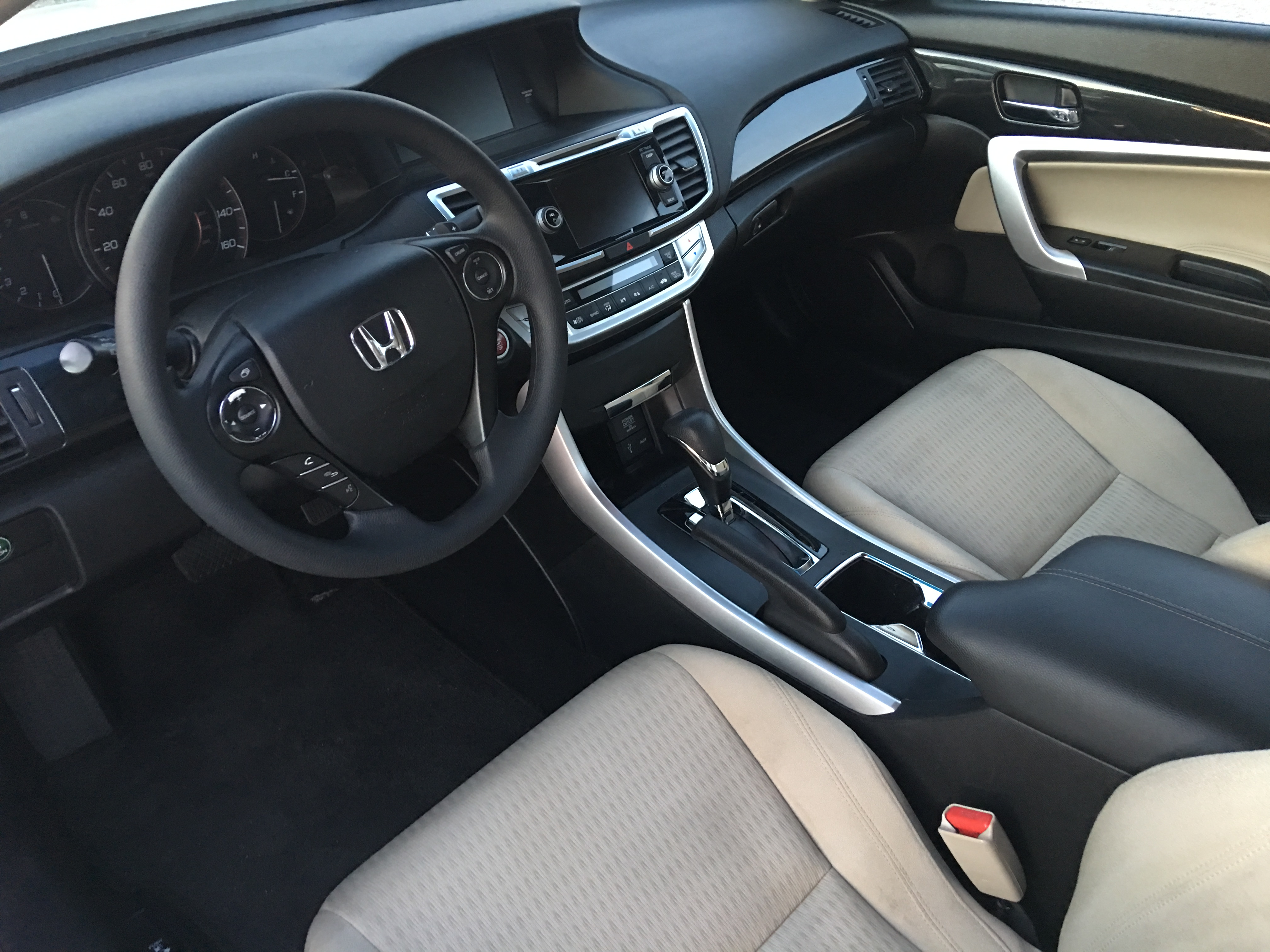 inside 2013 Honda Accord EX